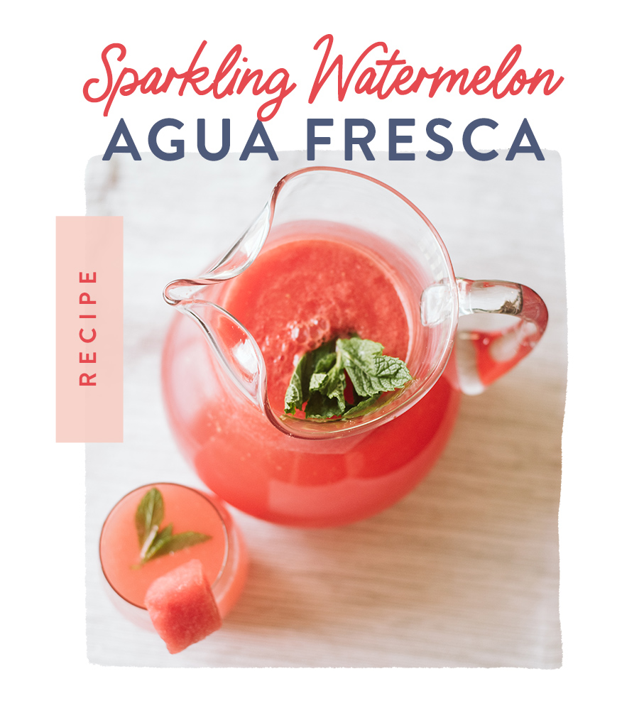 Sparkling Watermelon Agua Fresca Recipe
