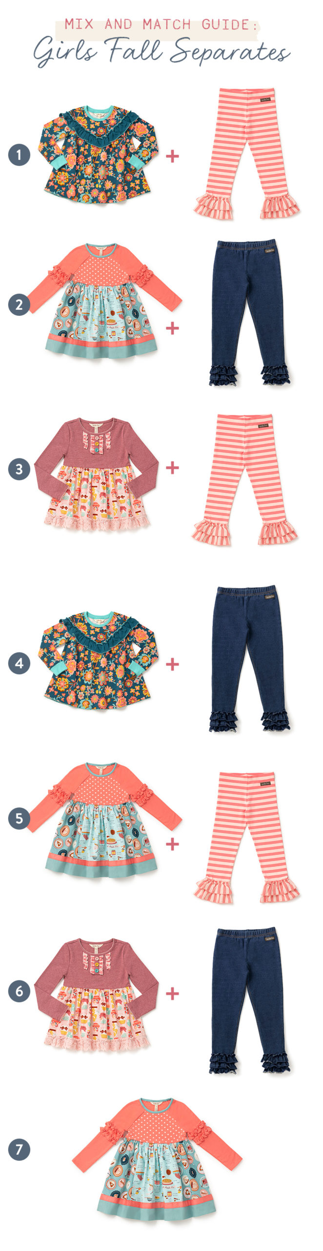 october mix and match guide - girls separates