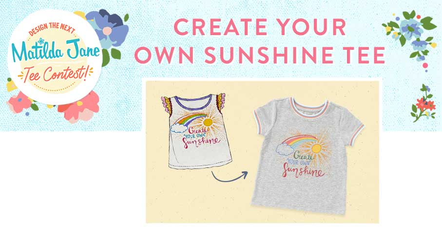 Create Your Own Sunshine Tee - winner of the 2020 Matilda Jane Design the Next Matilda